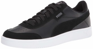 Men's Court Sneaker Black-Castlerock White 8 M US