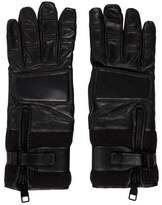 Salvatore Ferragamo Leather Zip Gloves