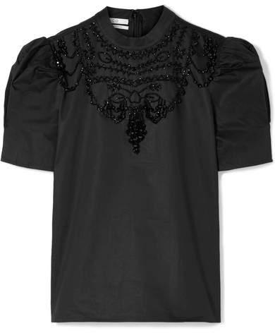Co Embellished Cotton-poplin Top