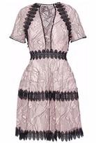 Nicholas Lace-Up Lace Dress