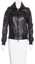 Calvin Klein Collection Leather Zip-Up Jacket