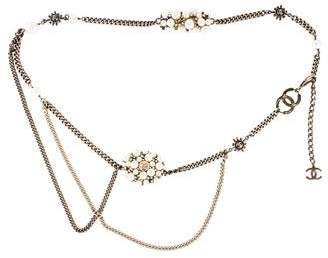 Chanel Pearl Cluster and Crystal Chain Belt