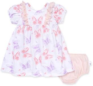 Burt's Bees Butterfly Buddies Organic Baby Dress & Diaper Cover Set