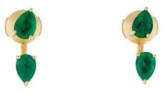 Anita Ko 18K Emerald Pear Orbit Ear Jackets