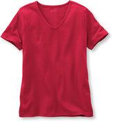 L.L. Bean Pima Cotton Tee, V-Neck Short-Sleeve