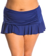 Bleu Rod Beattie Plus Size Jet, Set, Go Skirted Bikini Bottom 8144721