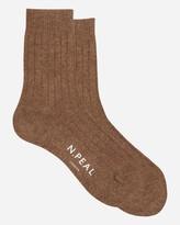 N.Peal Womens Plain Short Socks