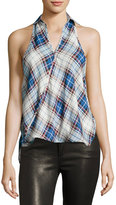 Bishop + Young Crossover Plaid-Print Blouse, Multi