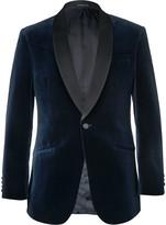Richard James - Slim-fit Satin-trimmed Cotton-velvet Tuxedo Jacket