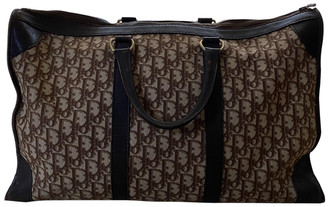 Christian Dior Brown Cloth Travel bags