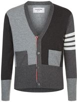 Thom Browne Tonal V-neck Stripe Cardigan