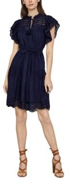 BCBGMAXAZRIA Cotton Eyelet Dress