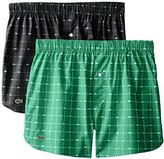 Lacoste Men's Authentics Woven Boxer Short (Pack of 2)