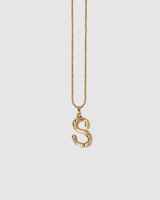Kitte Bambu Initial Necklace 'S'