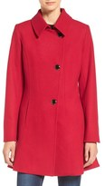CeCe 'Rose' Asymmetrical Skirted Wool Blend Coat