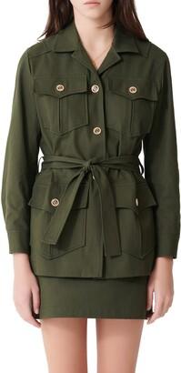 Maje Guesna Military Stretch Cotton Jacket