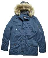 Burton Mens Blue Alaska Parka Coat