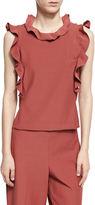 Rebecca Taylor Sleeveless Ruffle Suit Top