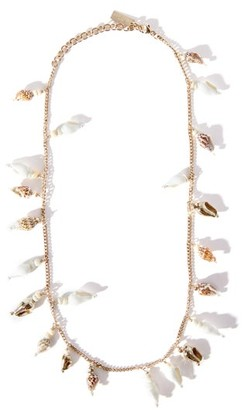Saint Laurent Shell-charm Necklace - Gold Multi