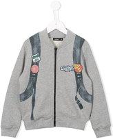 Junior Gaultier printed bomber jacket - kids - Cotton - 5 yrs