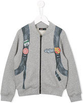 Junior Gaultier printed bomber jacket - kids - Cotton - 6 yrs