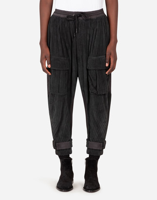 Dolce & Gabbana Velvet And Nylon Cargo Pants