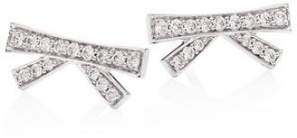 Hueb Origami Diamond 18K White Gold Stud Earrings
