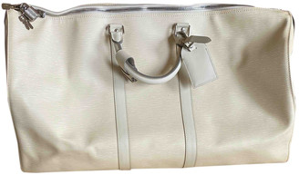 Louis Vuitton Keepall White Leather Travel bags