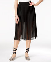 SHIFT Juniors' Pleated Chiffon Skirt, Only at Macy's