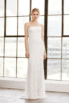 Tadashi Shoji Duncan Strapless Lace Gown