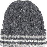Thom Browne Cable Knit Tweed Wool Beanie
