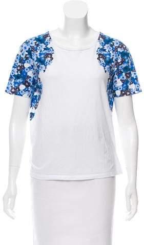 Diane von Furstenberg Printed Knit T-Shirt