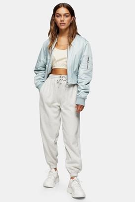 Topshop Womens Petite Grey 90S Oversized Joggers - Grey