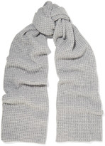 Madeleine Thompson Hemingfield Waffle-knit Cashmere Scarf - Gray