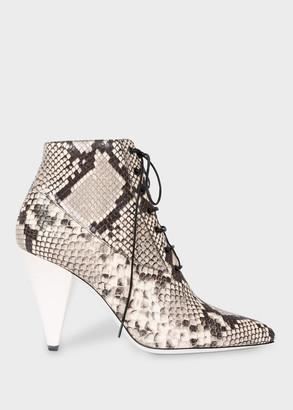 Paul Smith Women's Snakeskin Effect Leather 'Cyndi' Heels