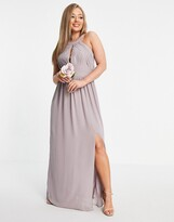 Thumbnail for your product : TFNC Bridesmaid multiway maxi dress in light grey