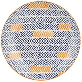Pols Potten Dakara Chevron 20cm Plate, Blue / Orange