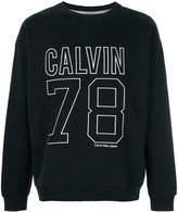 Calvin Klein logo embroidered sweatshirt