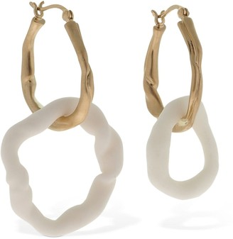 COMPLETEDWORKS Stunt Double Ceramic Asymmetric Earrings