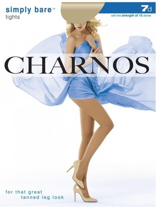 Charnos Ladies 1 Pair 7 Denier Simply Bare Tights In 4 Colours - Large - Sunkissed