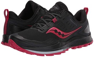 Saucony Peregrine 10 (Black/Barberry) Women's Shoes