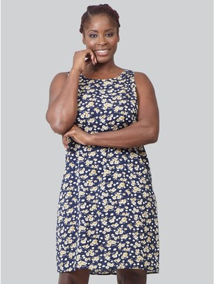 M&Co Izabel Curve ditsy floral shift dress