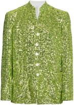 Comme des Garcons Green Sequin Blazer