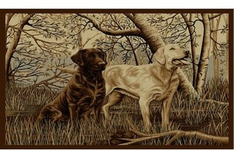 Millwood Pines Windley Good Dogs Beige Area Rug Rug Size: Rectangle 5' x 8'