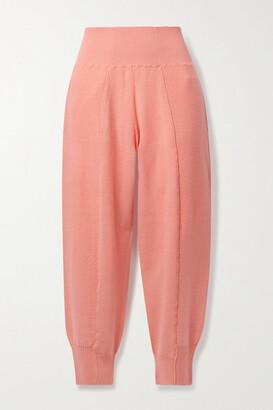 Stella McCartney Wool Track Pants - Coral