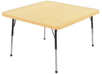 """Factory 30"""" Square Activity Table Direct Partners Side Finish: Maple, Leg Type: Standard Leg Ball Glides"""