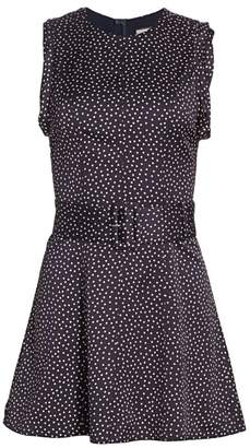 Alexis Dutsa Polka Dot Belted Mini Dress
