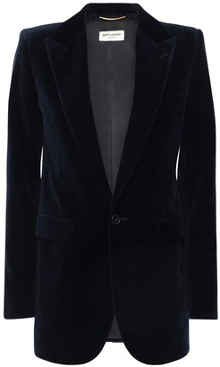 Saint Laurent Velvet One Breast Blazer Jacket