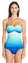Bleu Rod Beattie Bleu | Rod Beattie Women's Fun In The Sun Twist Bandeau One Piece Swimsuit