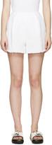 Edit White Denim Shorts